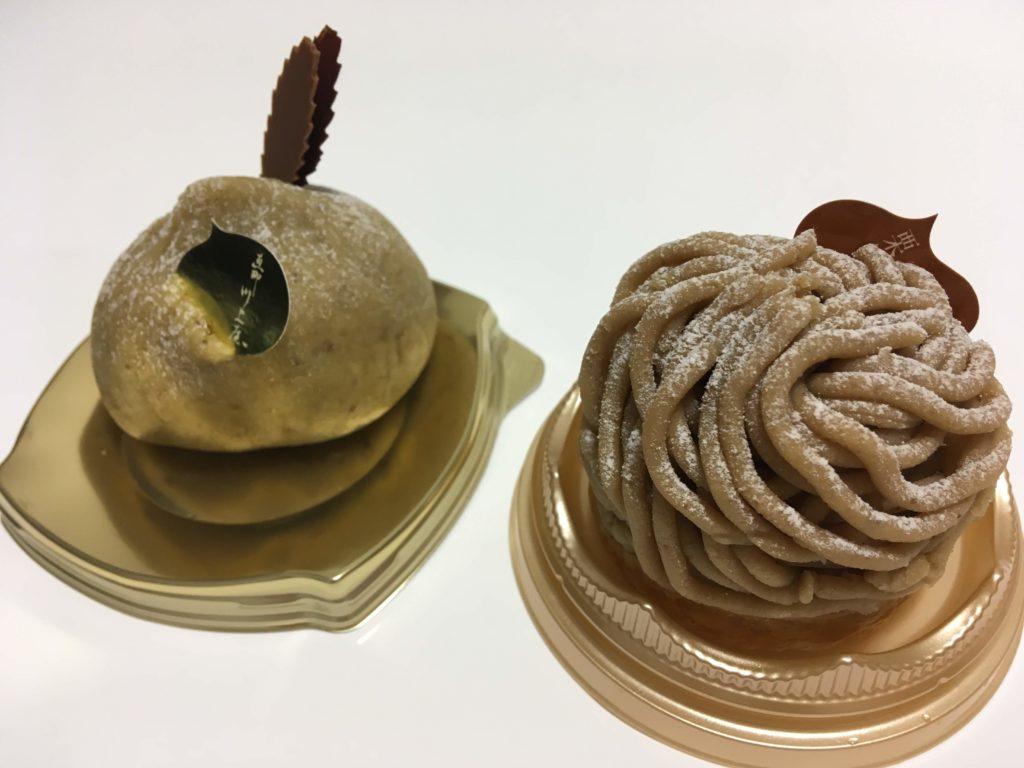 恵那川上屋の栗ケーキ