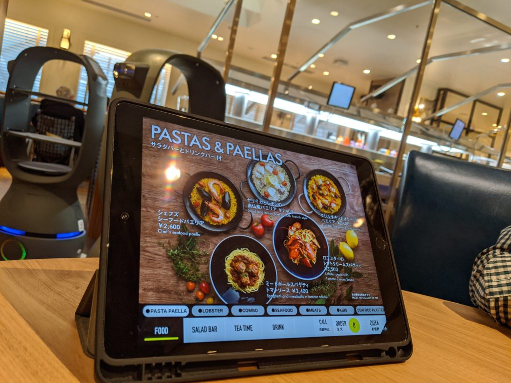 THE GALLEY Seafood&Grill by三笠会館 オーダーはタブレット