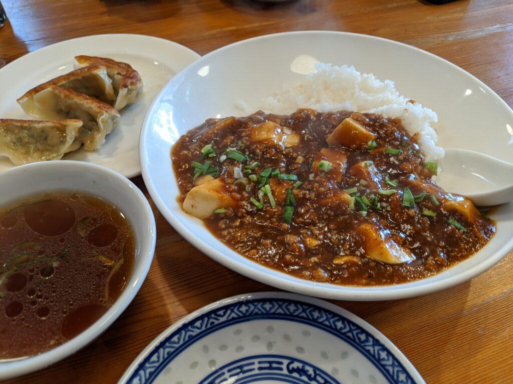 鴻龍の麻婆豆腐丼